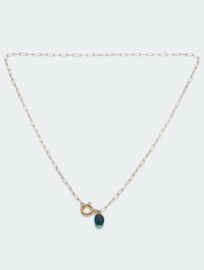 Statement clasp ketting goud