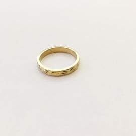 Ring werkje goud