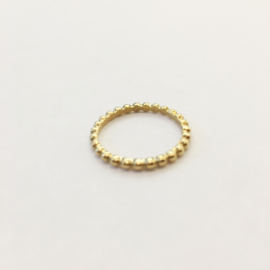 Ring dots goud of zilver