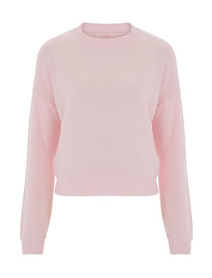 Crop sweater pink