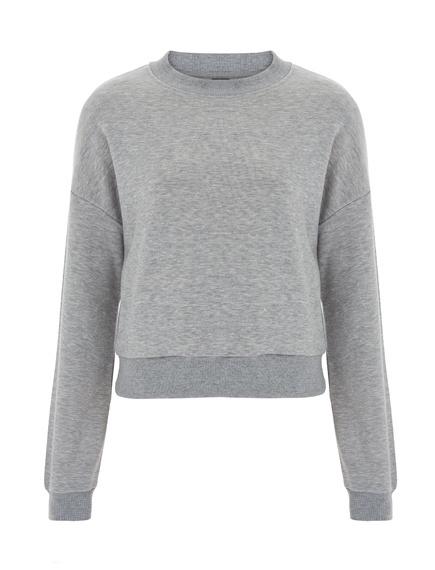 Fairwear cropped sweater grijs