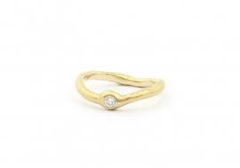organische ring met diamant