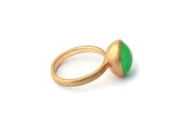 Rosé gouden ring met Chrysopraas