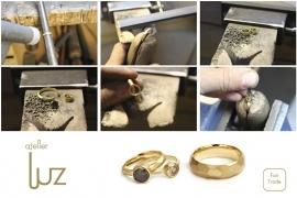 stoere ringen met gekleurde diamant