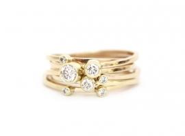 gerecyclede ringen met diamanten