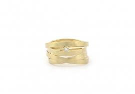 banden ring met diamant