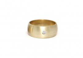 brede bolle ring met diamant
