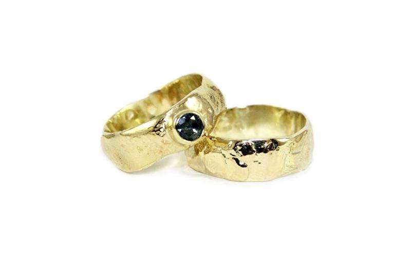 organische ringen met saffier