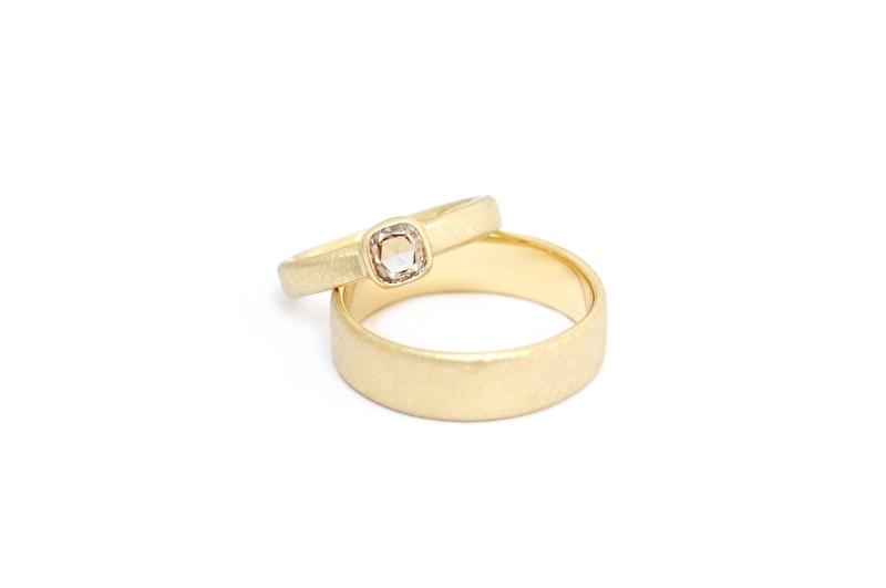 ringenset met vintage diamant
