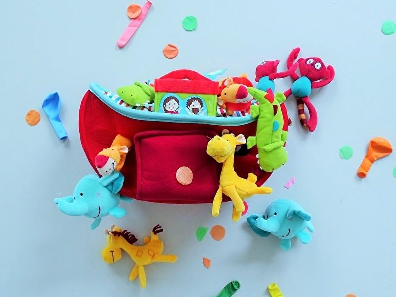 De ark van Noach, verantwoord zacht speelgoed voor de allerkleinste.