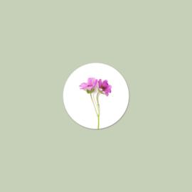 Sluitzegel Roze Bloemen (15 stuks)
