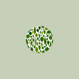 Sluitzegel Groene Bladeren (15 stuks)