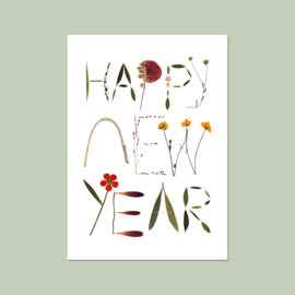 Nieuwjaarskaart Happy New Year