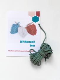 DIY macramé veer workshoppakket groen