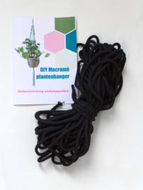 Workshoppakket macramé plantenhanger zwart
