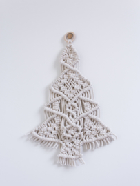 Macramé kerstboom naturel
