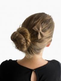 Leren haarstrik - Beige
