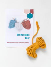 DIY macramé veer workshoppakket geel