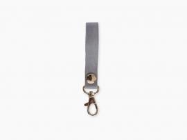 Leren sleutelhanger - grijs