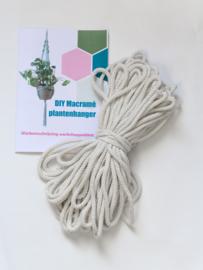 Workshoppakket macramé plantenhanger naturel