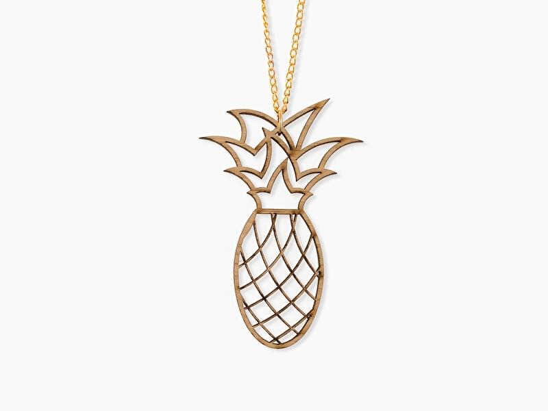 Houten Ketting Ananas