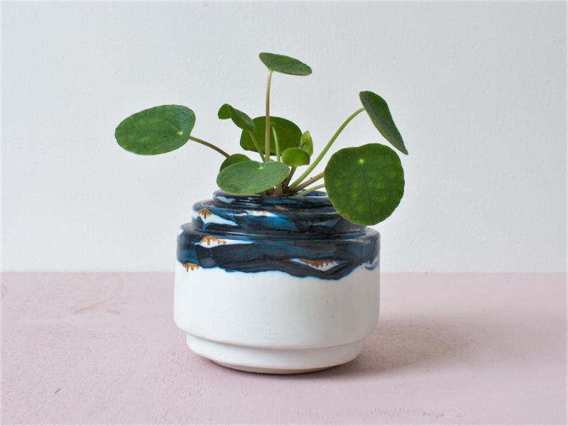 Porseleinen bloempot M Royal Chique blue