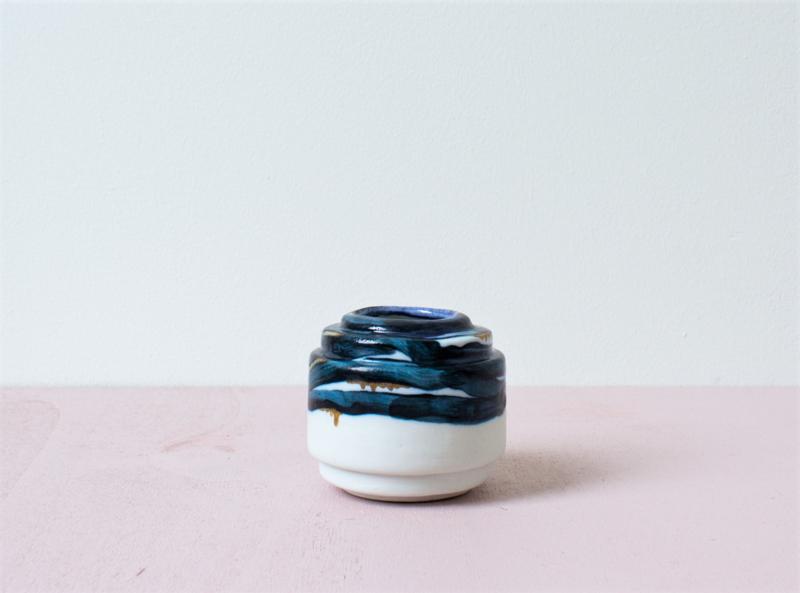 Porseleinen bloempot S Royal Chique blue