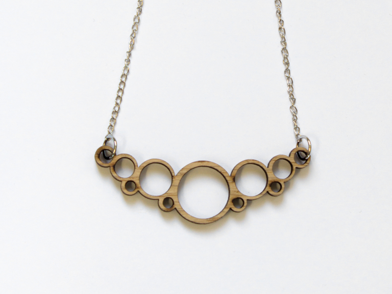Houten ketting Cirkels mini