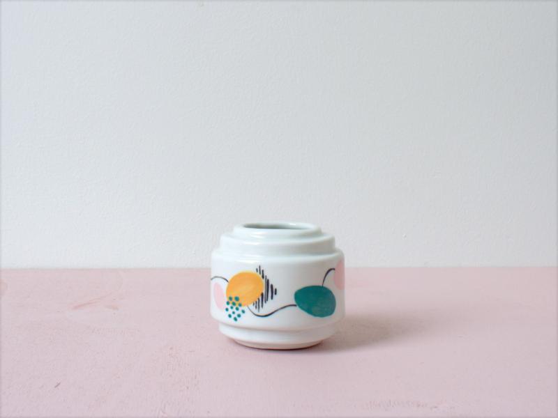 Porseleinen bloempot S - Art