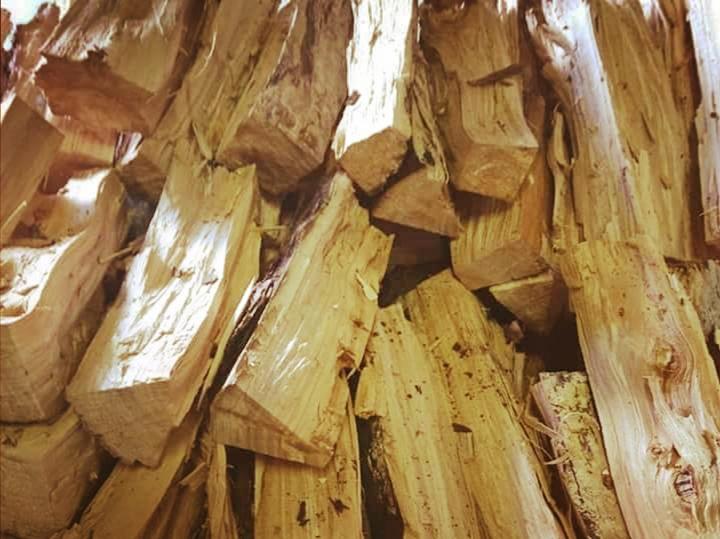 smokerhout eiken 1 kuub inclusief verzenden