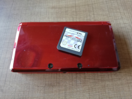 Nintendo 3DS Flame Red Console + Mariokart