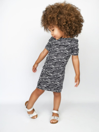 Zebra skin dress