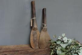 Oude houten rijstlepels