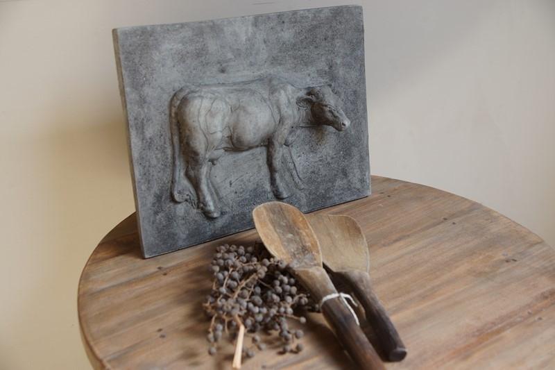 Oude houten rijst lepels