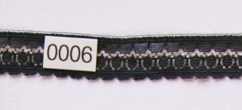 Kant zwart vlak  1,5 cm breed.