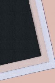 Steunstof  katoen zwart 145 cm breed. (prijs per 50 cm.)