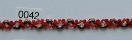 Rood/zwart/koper galon band 1 cm breed.