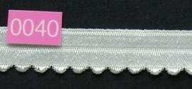 omvouw elastiek wit met picot aan de rand.