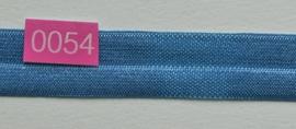 omvouw elastiek licht blauw satijn.