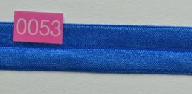 omvouw elastiek konings blauw satijn.