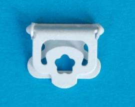 Klip wit metaal 12 mm (set 4 stuks)