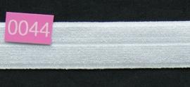 omvouw elastiek wit satijn.