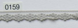 Tule kant grijsbruin bloem 1 cm breed.