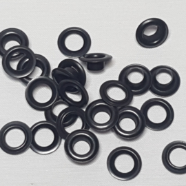 Prym nestelringen 5mm zwart per 10 stuks