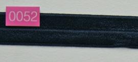 omvouw elastiek marine blauw satijn.