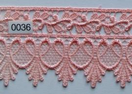 Kant roze brocante 7 cm breed.