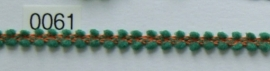 Band groen/koper chenille 1 cm breed. Niet rekbaar.