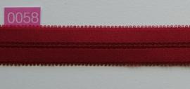 omvouw elastiek steen rood satijn stevig.