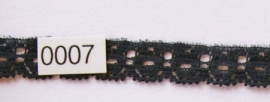 Kant zwart vlak  1,3 cm breed.