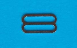 Schuif zilver metaal 12 mm (set 4 stuks)